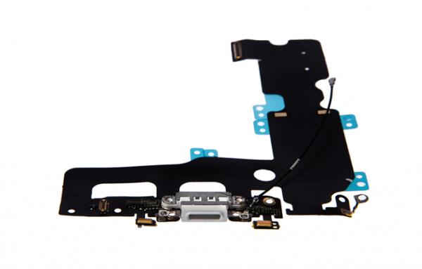 iPhone 7 Plus - USB Flex (Lightning) / Sprachmikrofon / Audiojack - Weiß