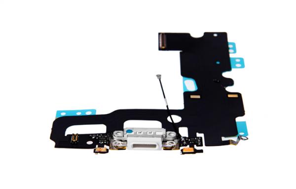 iPhone 7 - USB Flex (Lightning) / Sprachmikrofon / Audiojack - Weiß