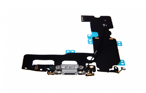 iPhone 7 Plus - USB Flex (Lightning) / Sprachmikrofon / Audiojack - Grau